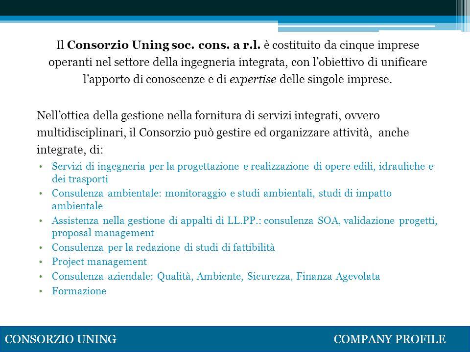 Il Consorzio Uning soc. cons. a r. l