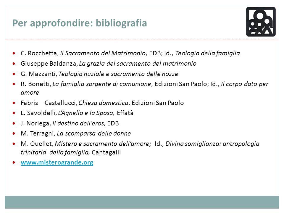 Per approfondire: bibliografia