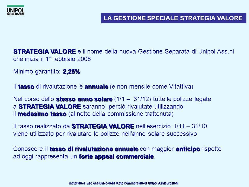 LA GESTIONE SPECIALE STRATEGIA VALORE