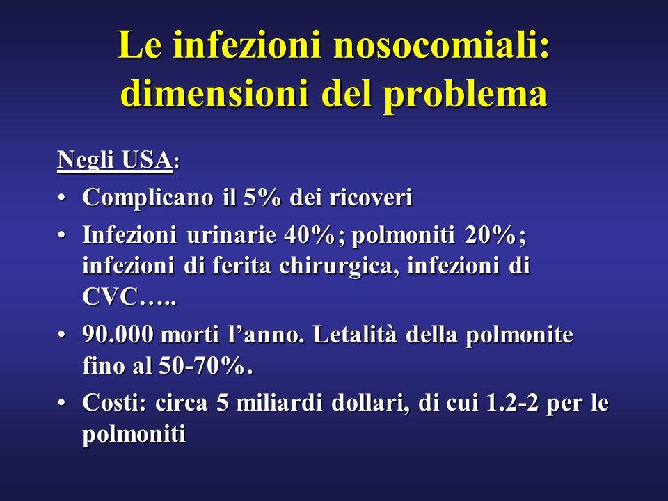 Le infezioni nosocomiali: dimensioni del problema