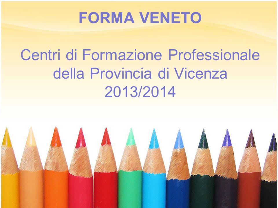 FORMA VENETO Centri di Formazione Professionale della Provincia di Vicenza 2013/2014