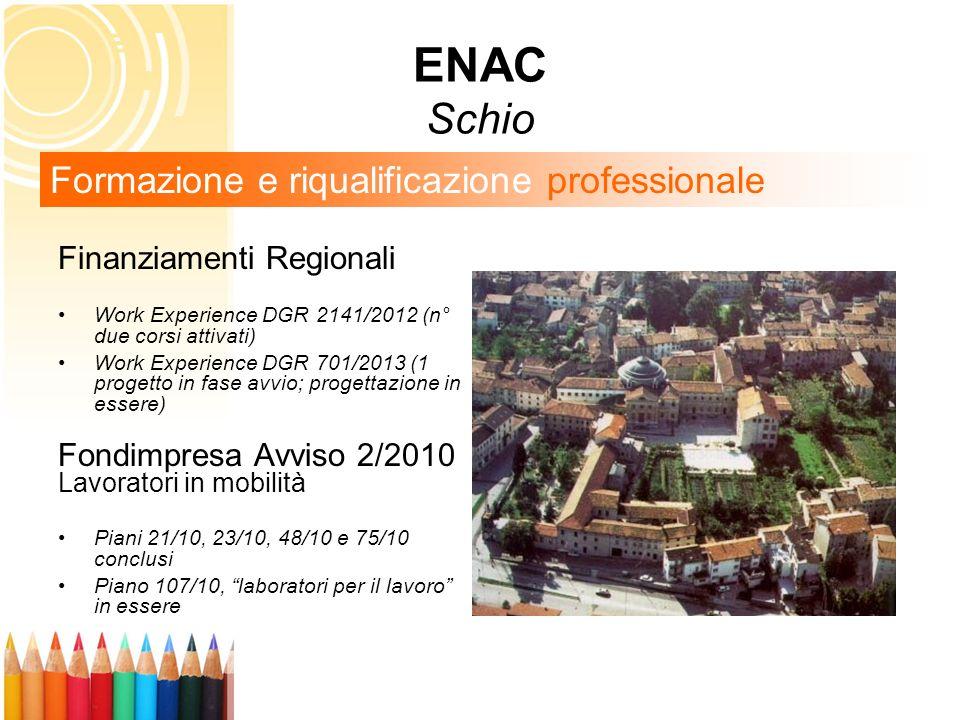ENAC Schio Formazione e riqualificazione professionale