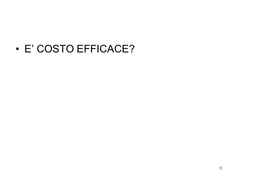 E' COSTO EFFICACE 11