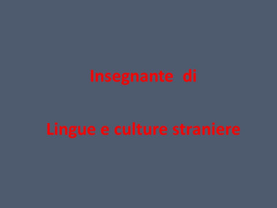 Insegnante di Lingue e culture straniere