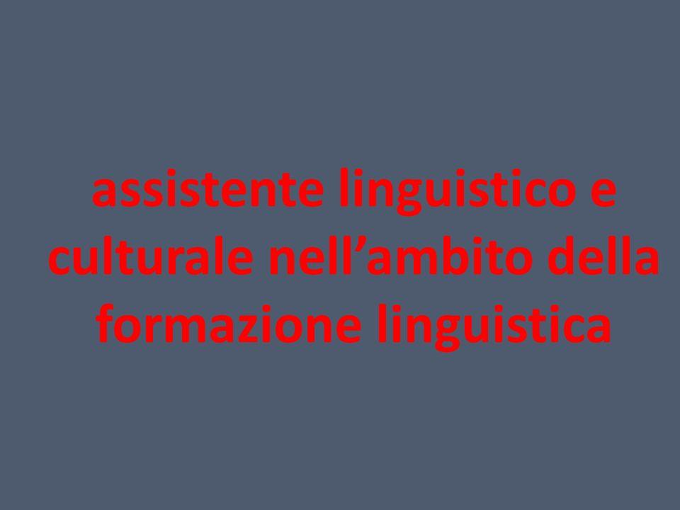 assistente linguistico e culturale nell'ambito della formazione linguistica