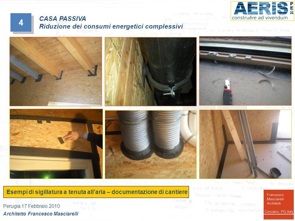 4 CASA PASSIVA Riduzione dei consumi energetici complessivi