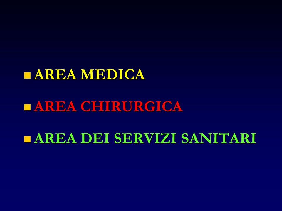AREA MEDICA AREA CHIRURGICA AREA DEI SERVIZI SANITARI