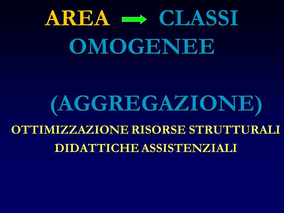 AREA CLASSI OMOGENEE (AGGREGAZIONE)