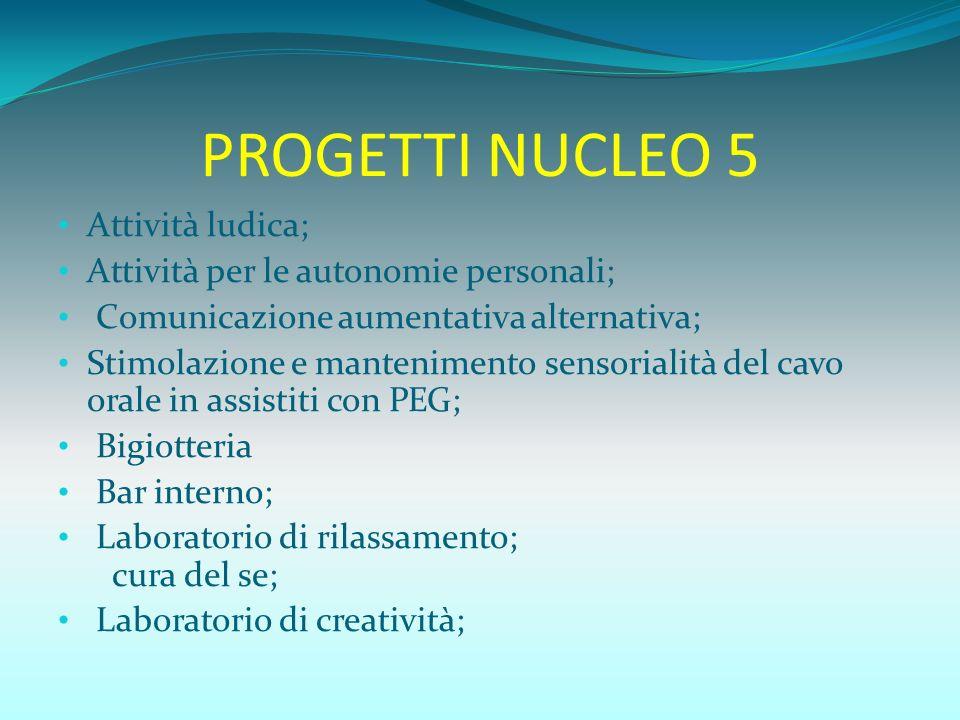 PROGETTI NUCLEO 5 Attività ludica;