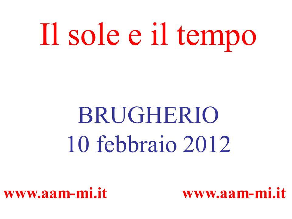 Il sole e il tempo BRUGHERIO 10 febbraio 2012 www.aam-mi.it