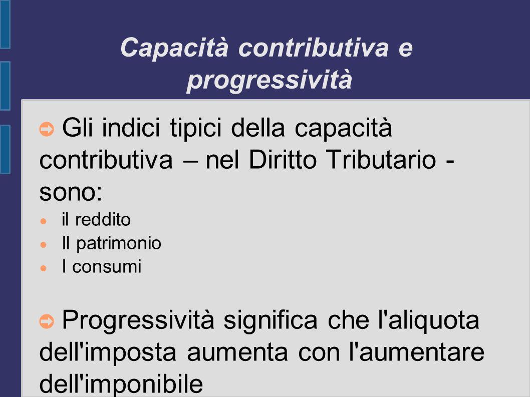 Capacità contributiva e progressività