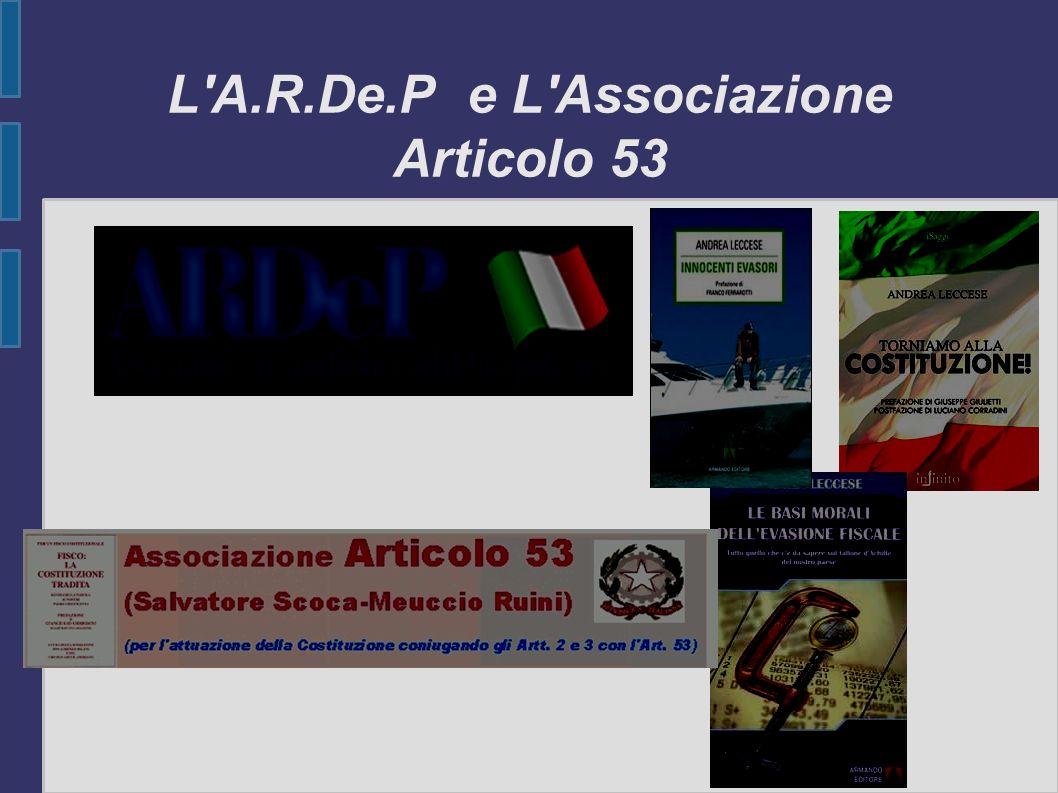 L A.R.De.P e L Associazione Articolo 53