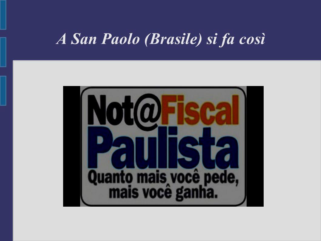 A San Paolo (Brasile) si fa così