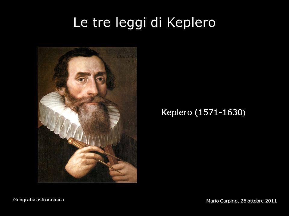 Le tre leggi di Keplero Keplero (1571-1630)