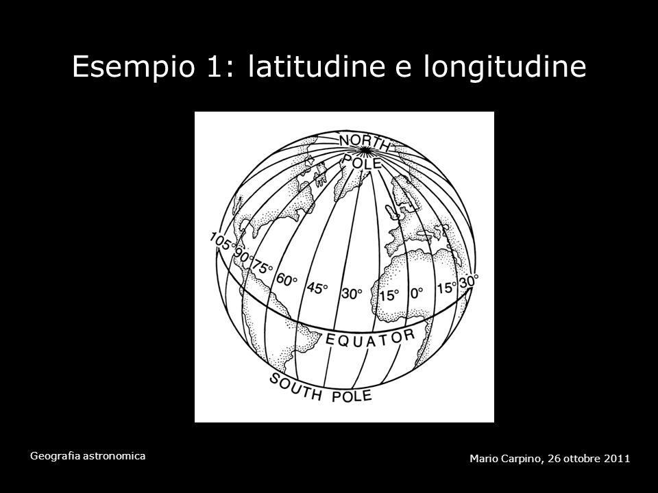Esempio 1: latitudine e longitudine