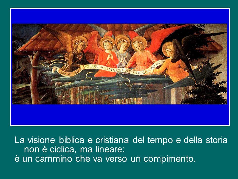 La visione biblica e cristiana del tempo e della storia non è ciclica, ma lineare: è un cammino che va verso un compimento.