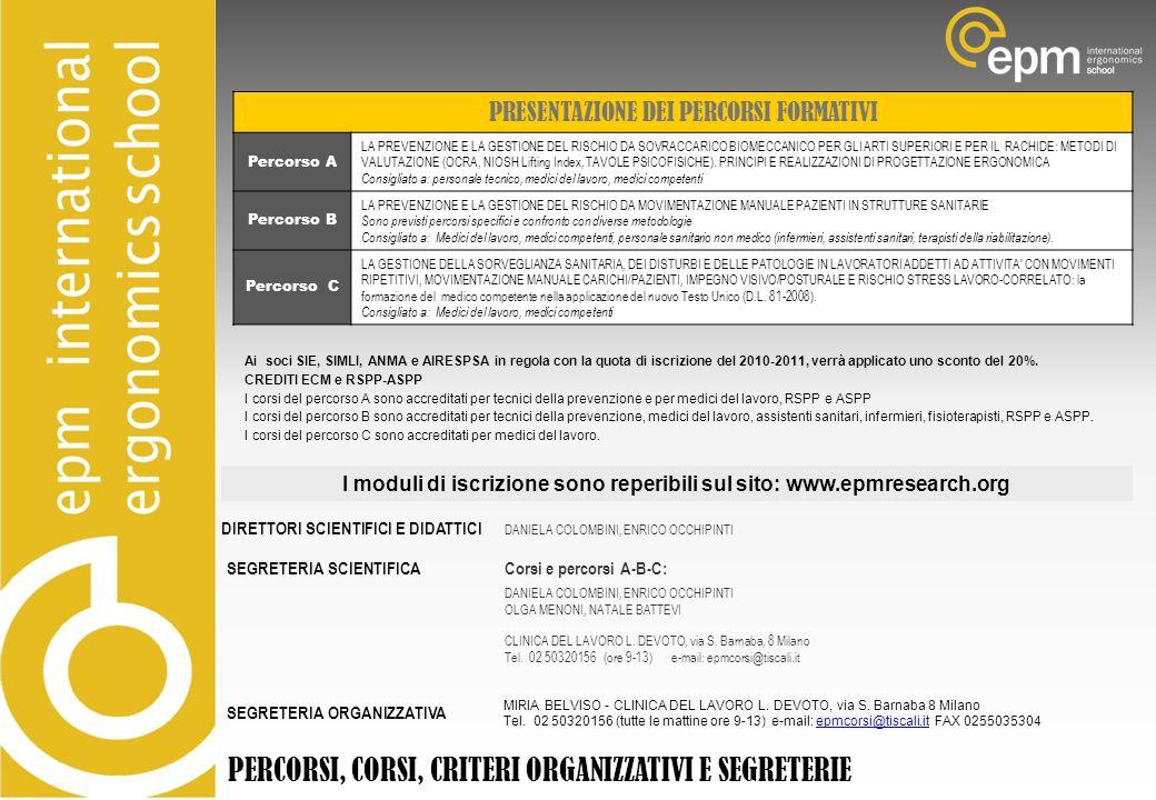 I moduli di iscrizione sono reperibili sul sito: www.epmresearch.org