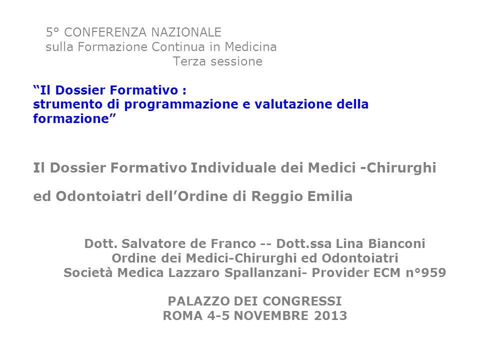 Dott. Salvatore de Franco -- Dott.ssa Lina Bianconi