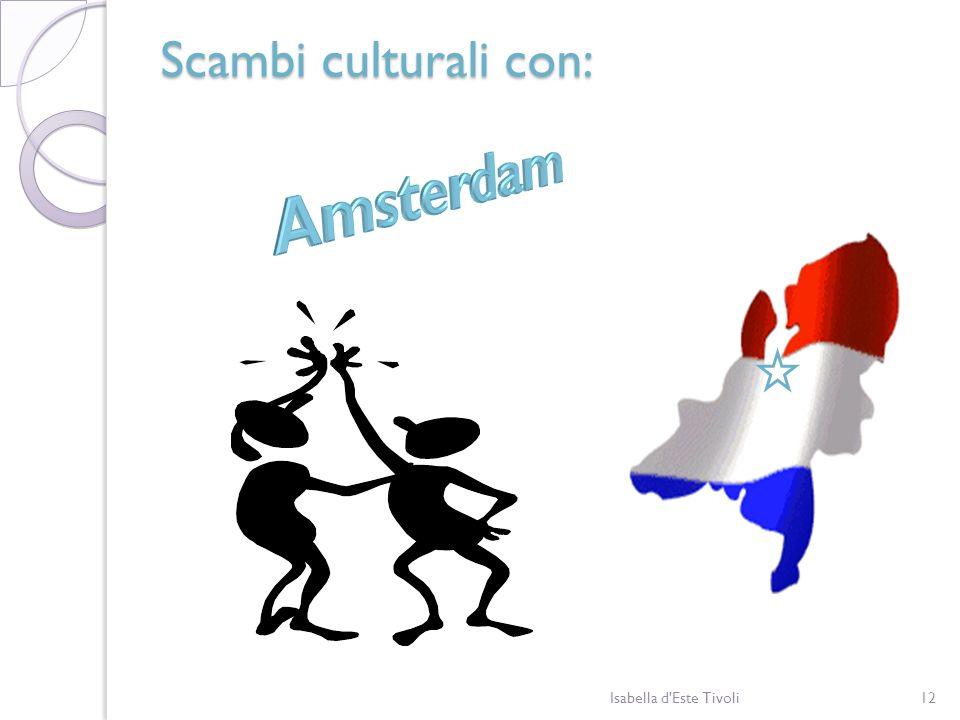 Scambi culturali con: Amsterdam Isabella d Este Tivoli
