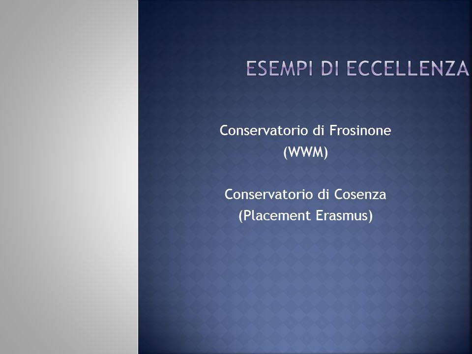 esempi di eccellenza Conservatorio di Frosinone (WWM)