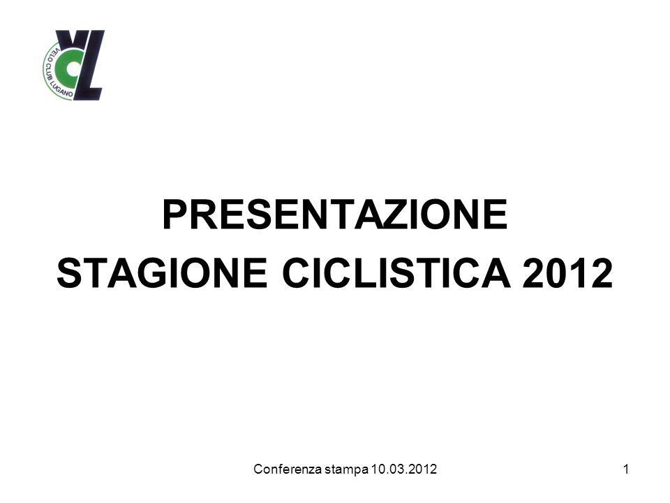 PRESENTAZIONE STAGIONE CICLISTICA 2012