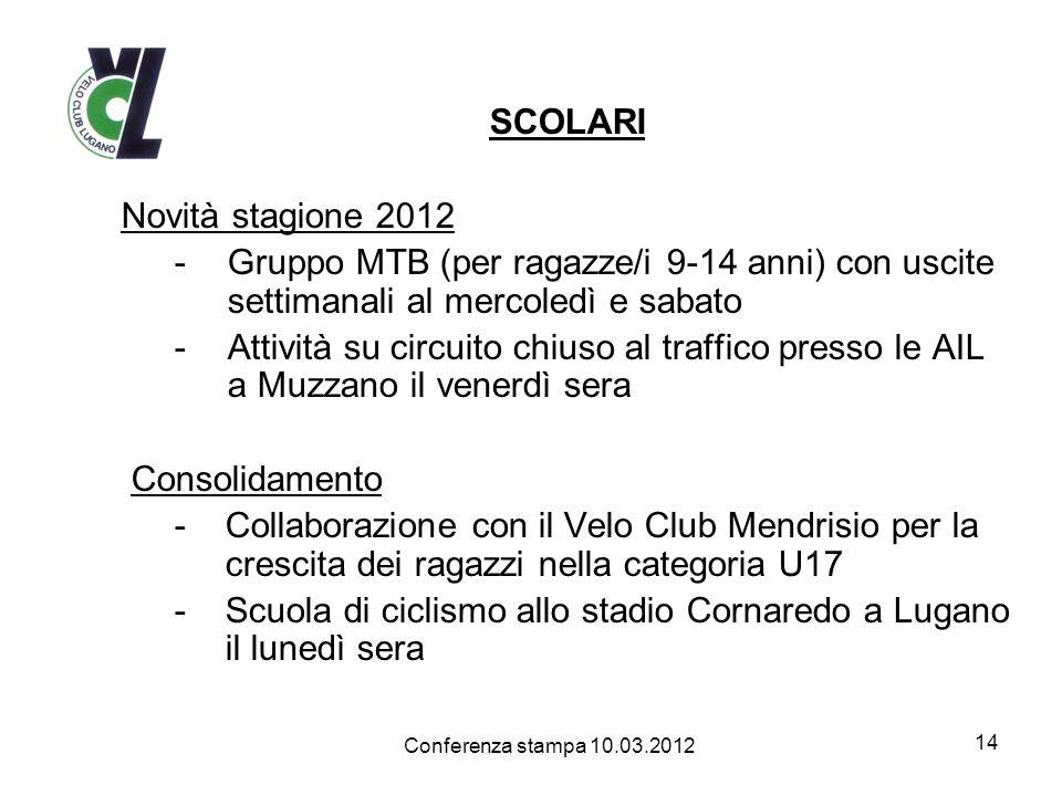 Scuola di ciclismo allo stadio Cornaredo a Lugano il lunedì sera
