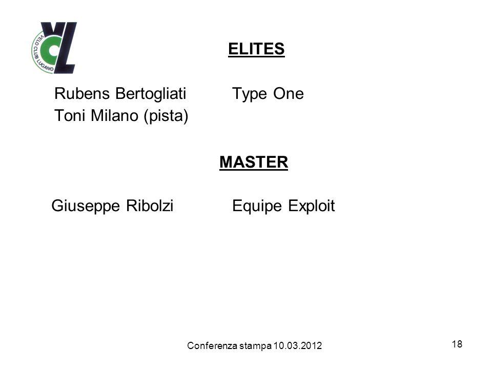 ELITES Rubens Bertogliati Type One Toni Milano (pista) MASTER