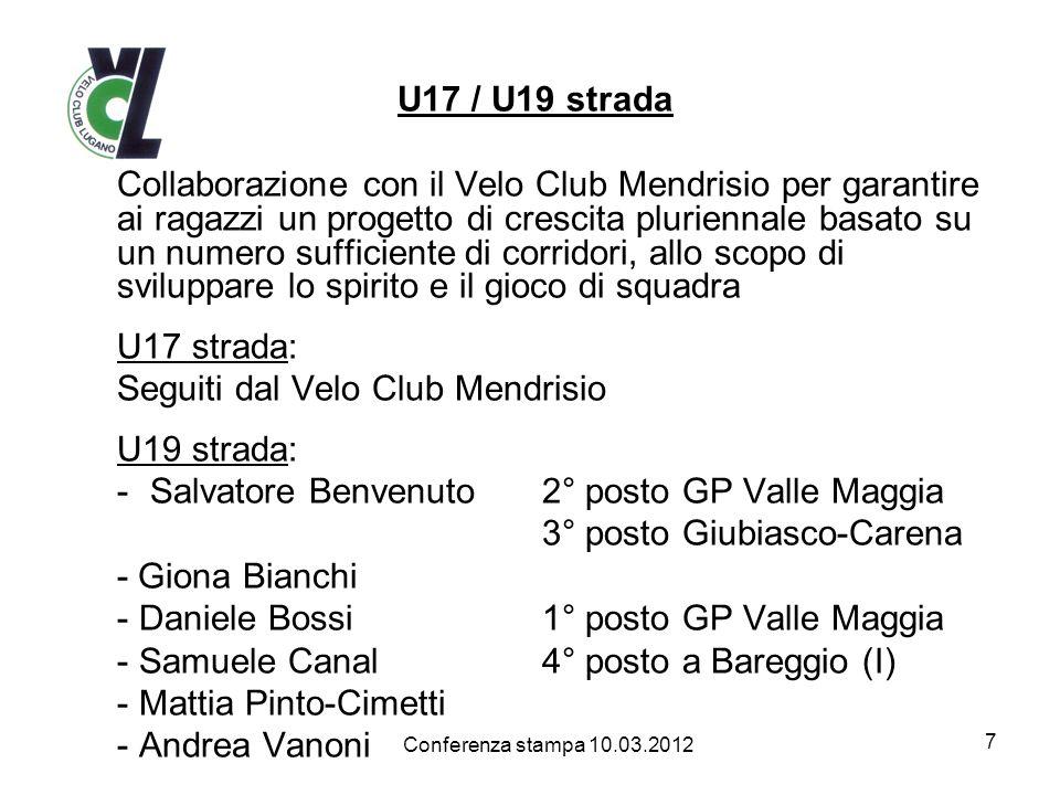Seguiti dal Velo Club Mendrisio U19 strada: