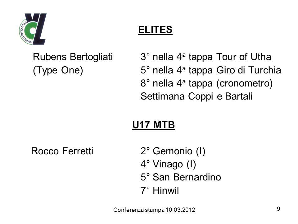 ELITES Rubens Bertogliati 3° nella 4a tappa Tour of Utha
