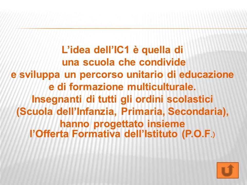 L'idea dell'IC1 è quella di una scuola che condivide