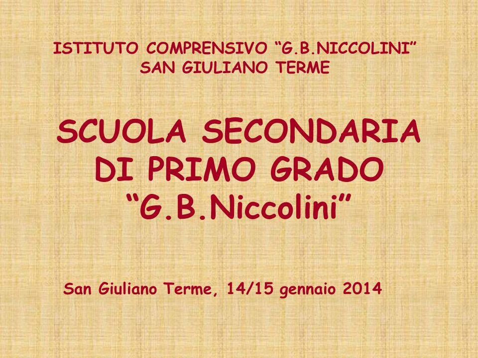 SCUOLA SECONDARIA DI PRIMO GRADO G.B.Niccolini