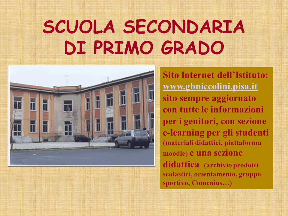 Scuola secondaria di primo grado g b niccolini ppt - Tavola di tracciamento secondo grado ...