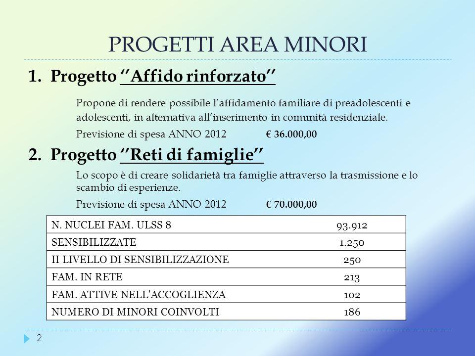 PROGETTI AREA MINORI 1. Progetto ''Affido rinforzato''