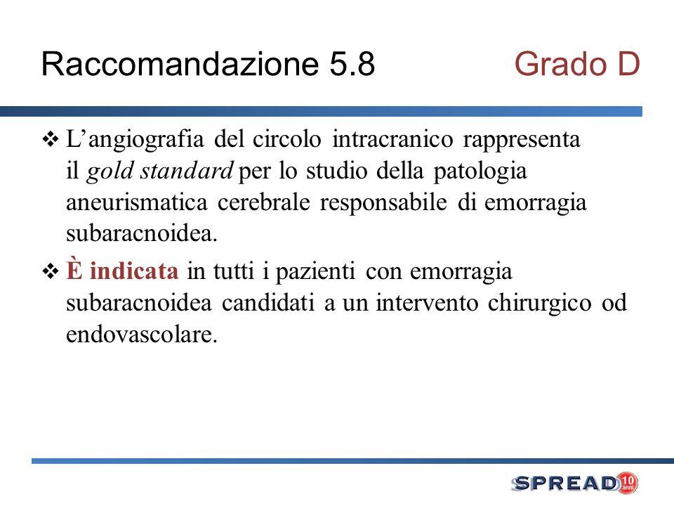 Raccomandazione 5.8 Grado D