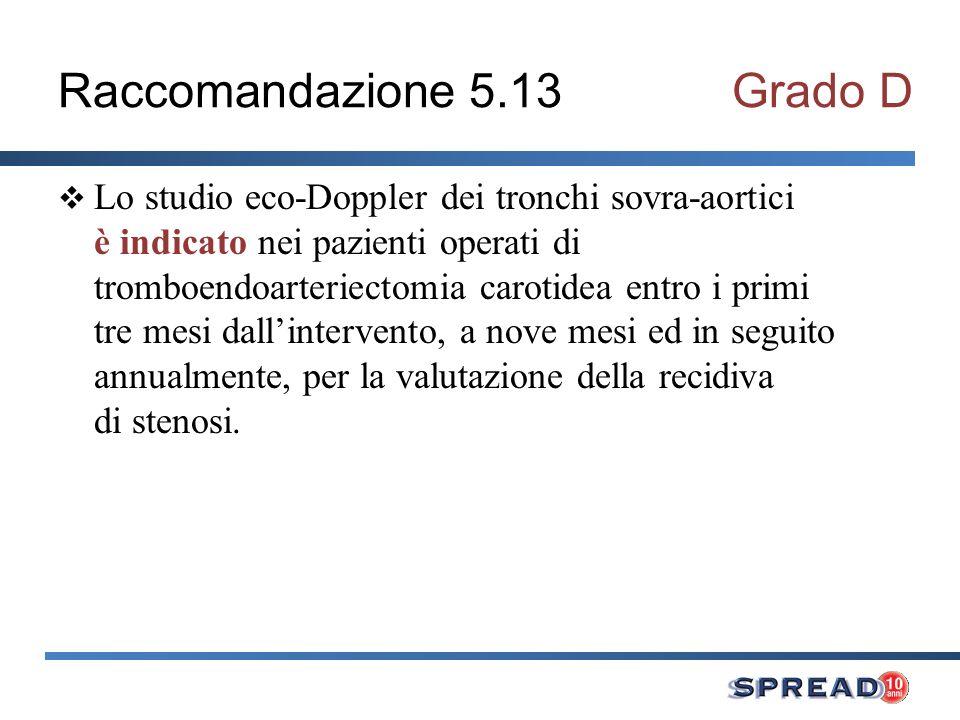 Raccomandazione 5.13 Grado D