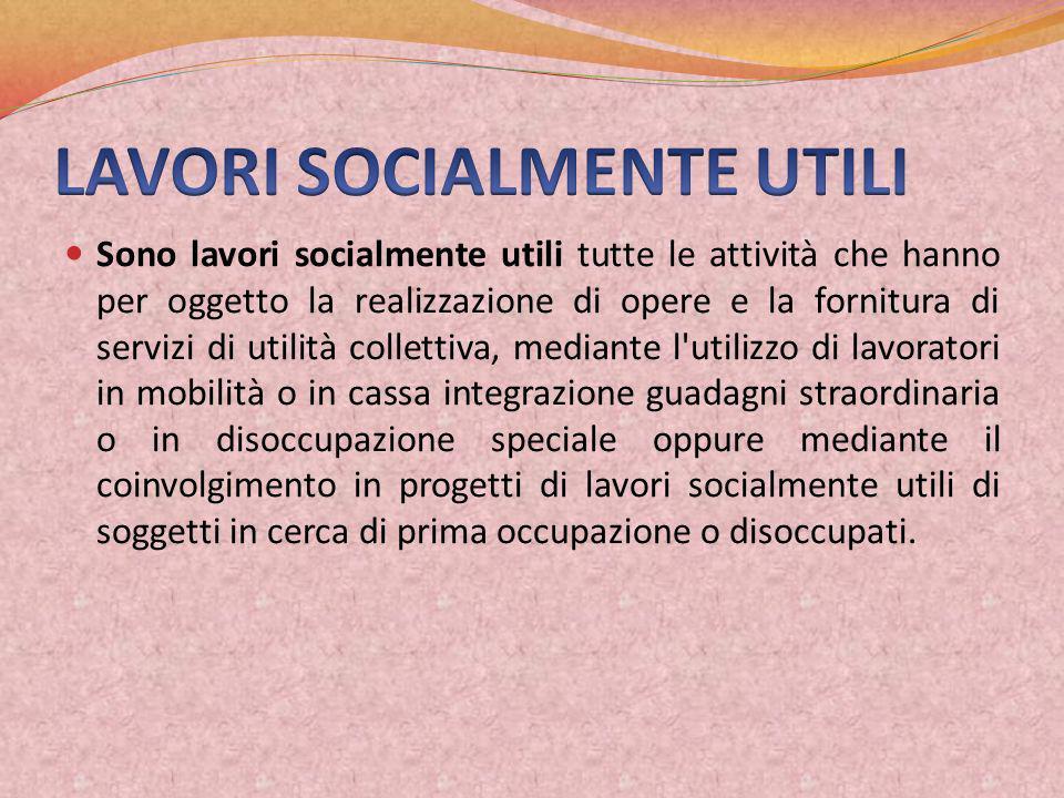 LAVORI SOCIALMENTE UTILI