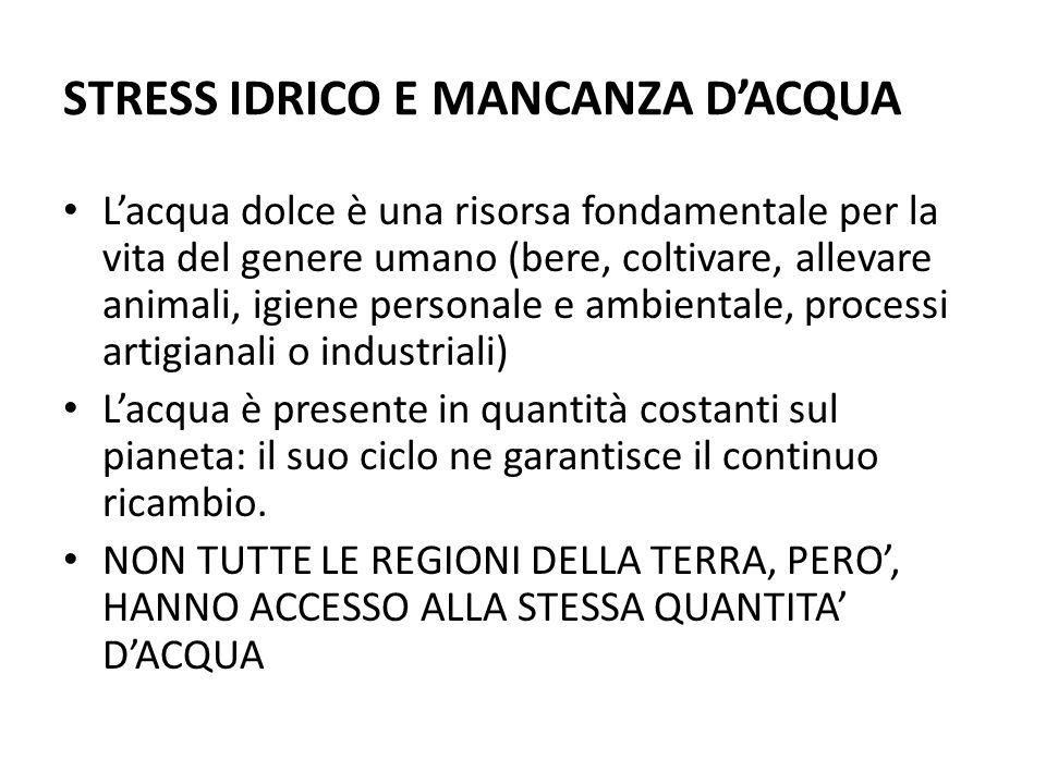 STRESS IDRICO E MANCANZA D'ACQUA