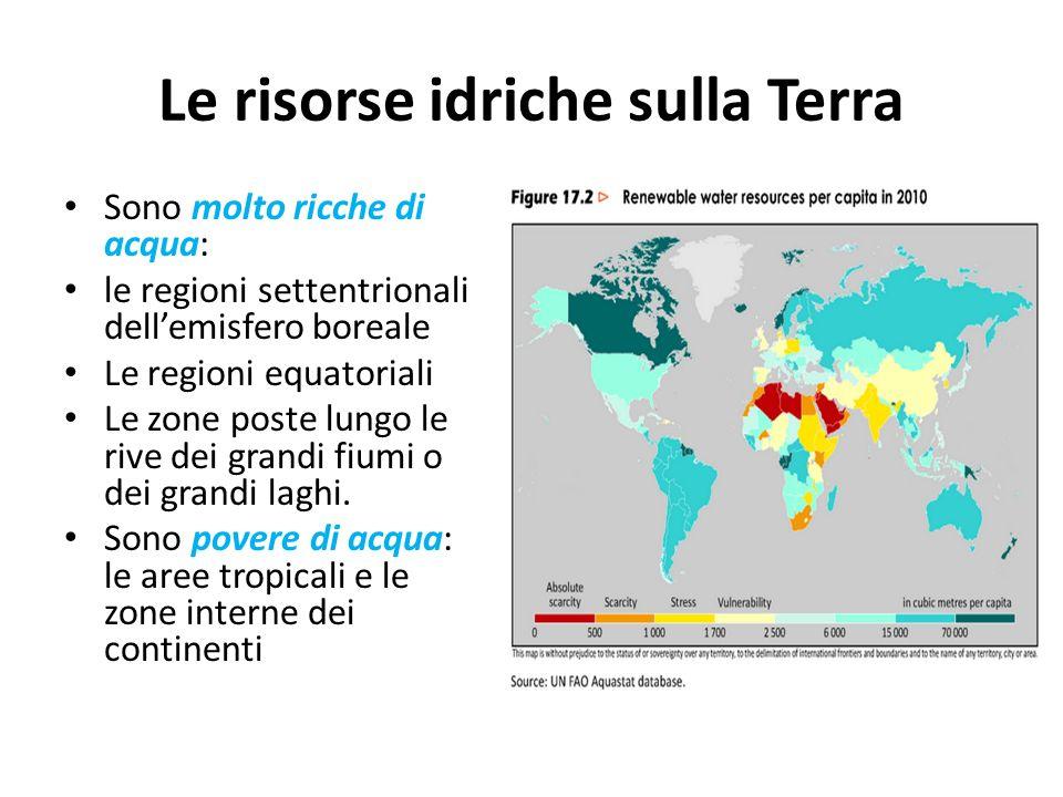 Le risorse idriche sulla Terra