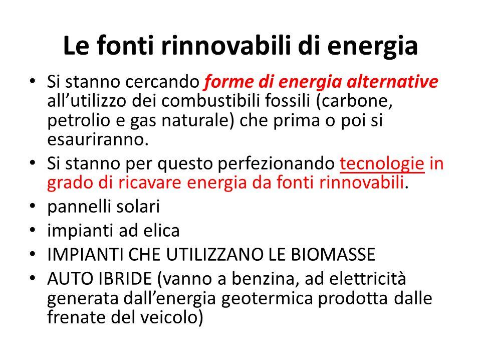 Le fonti rinnovabili di energia