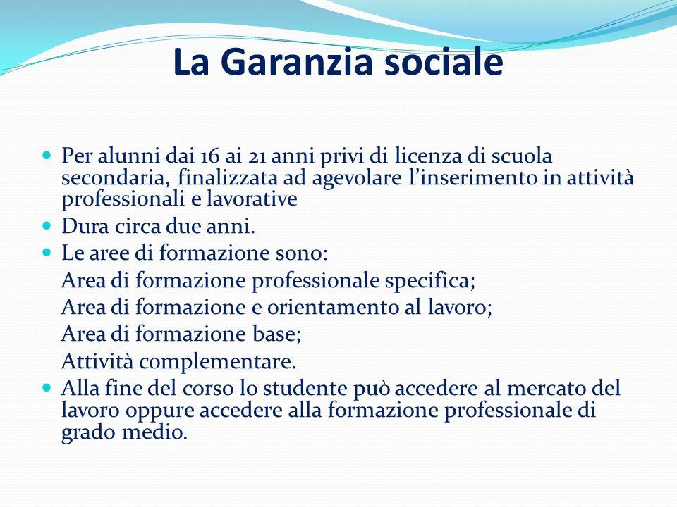 La Garanzia sociale