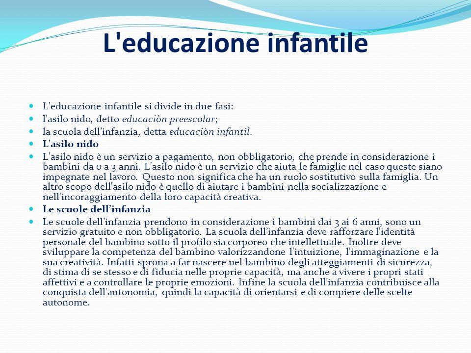 L educazione infantile