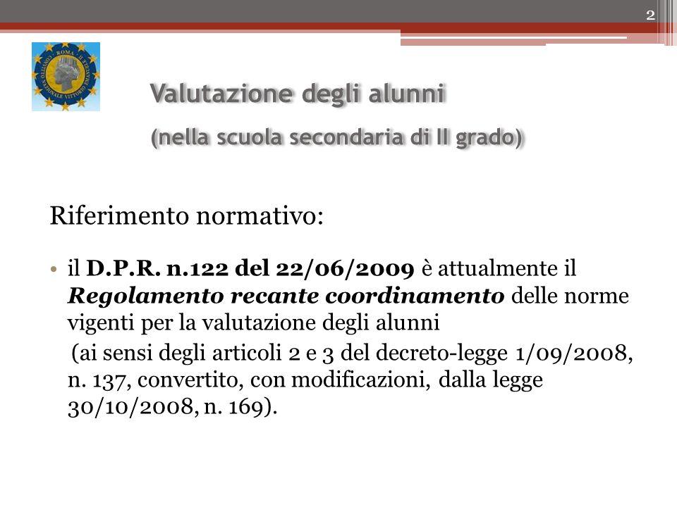 Valutazione degli alunni (nella scuola secondaria di II grado)