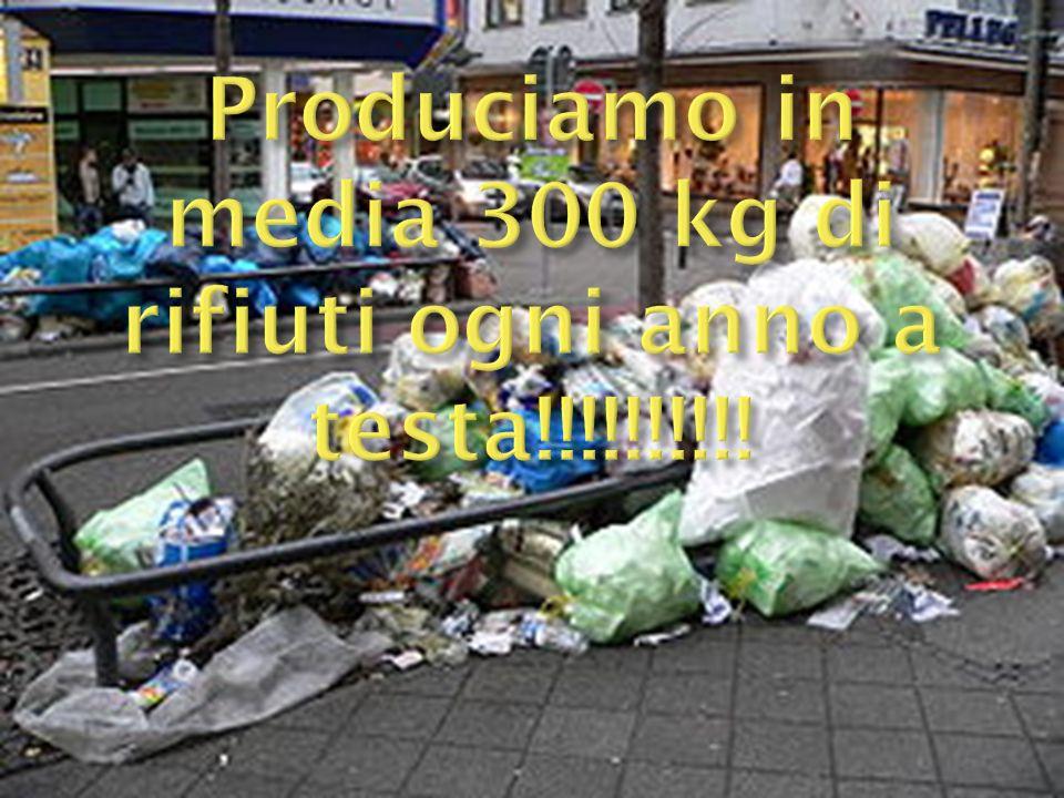 Produciamo in media 300 kg di rifiuti ogni anno a testa!!!!!!!!!!