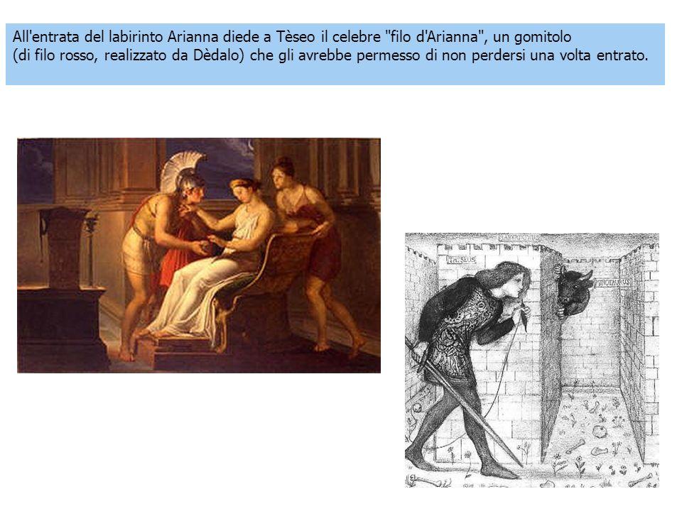 All entrata del labirinto Arianna diede a Tèseo il celebre filo d Arianna , un gomitolo