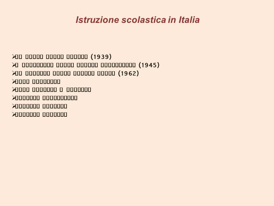 Istruzione scolastica in Italia