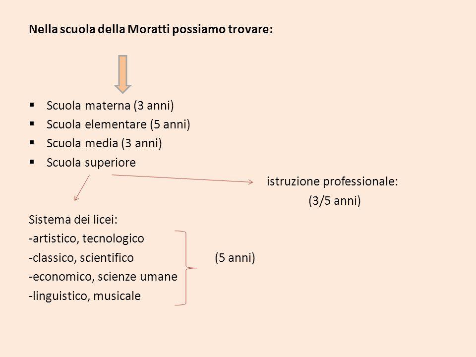 Nella scuola della Moratti possiamo trovare: