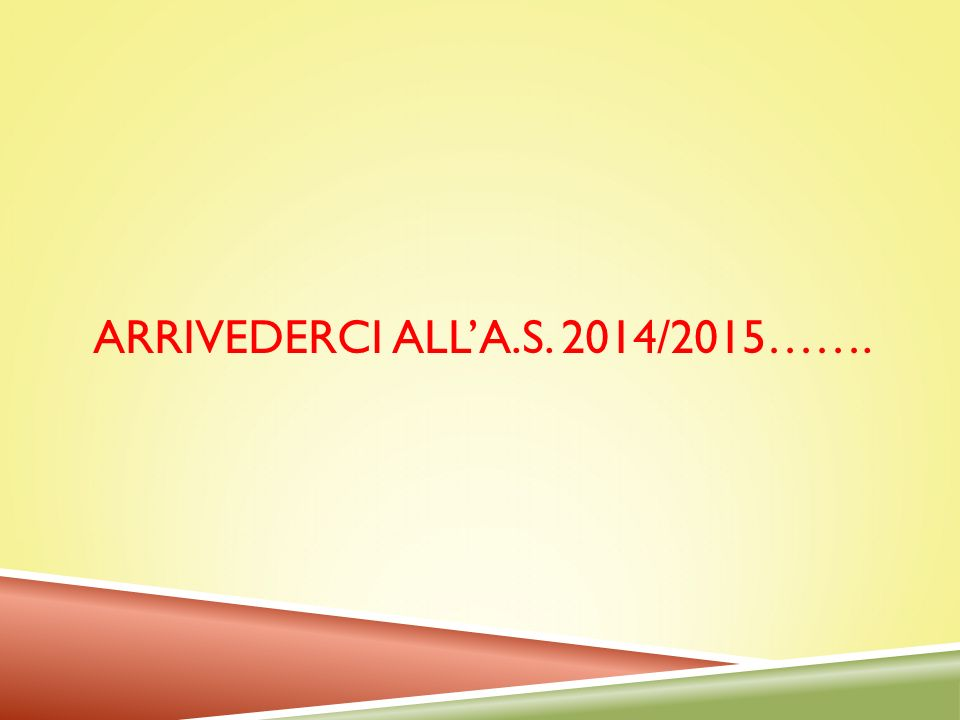 ARRIVEDERCI ALL'A.S. 2014/2015…….