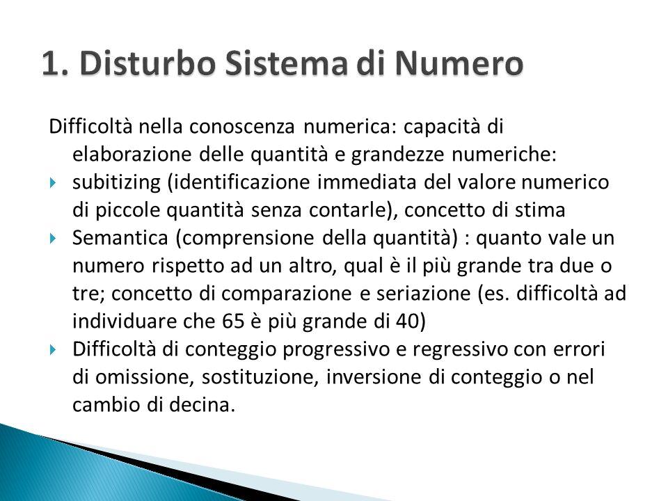 1. Disturbo Sistema di Numero