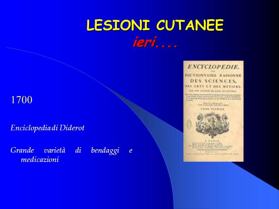 LESIONI CUTANEE ieri.... 1700 Enciclopedia di Diderot