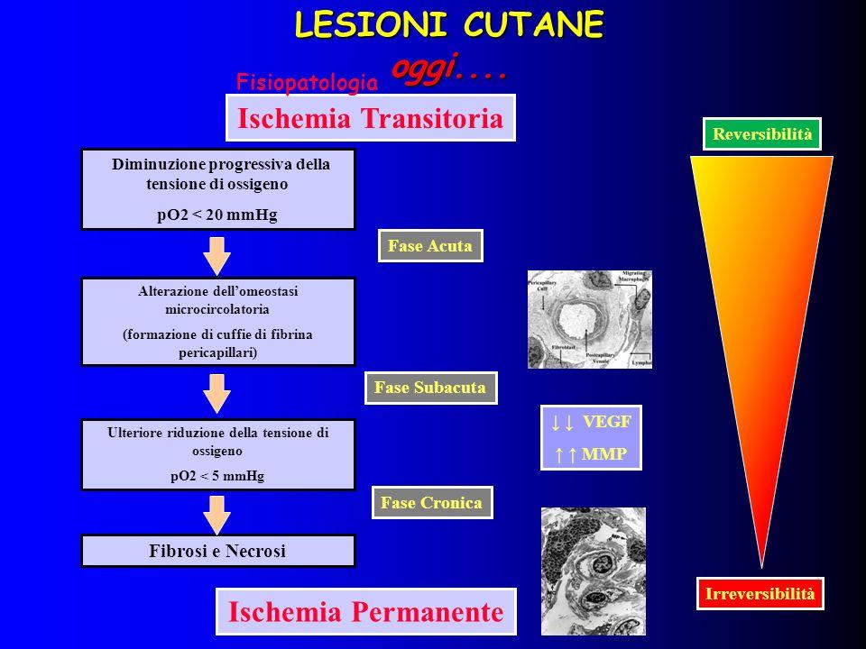 LESIONI CUTANE oggi.... Ischemia Transitoria Ischemia Permanente